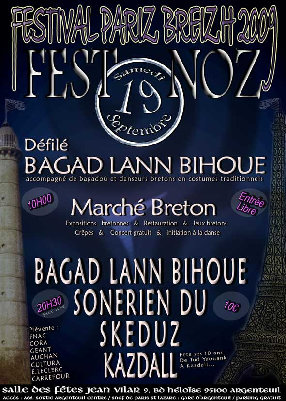 Affiche Pariz Breizh 2009 Argenteuil